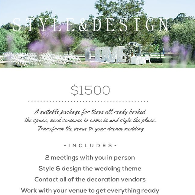 wedding planner Melbourne package 2
