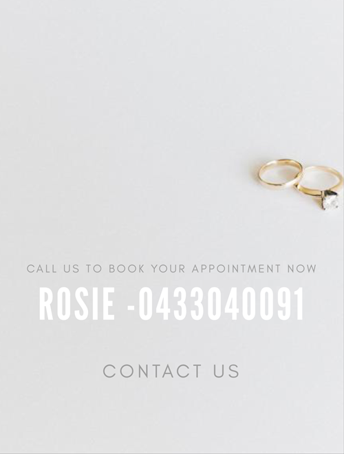 call Melbourne wedding planner Rosie now
